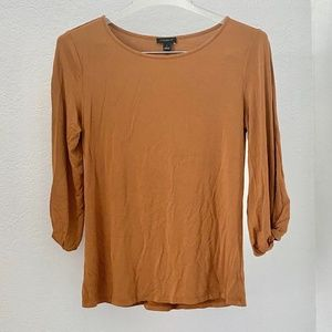 Ann Taylor Knotted Sleeve Tee S